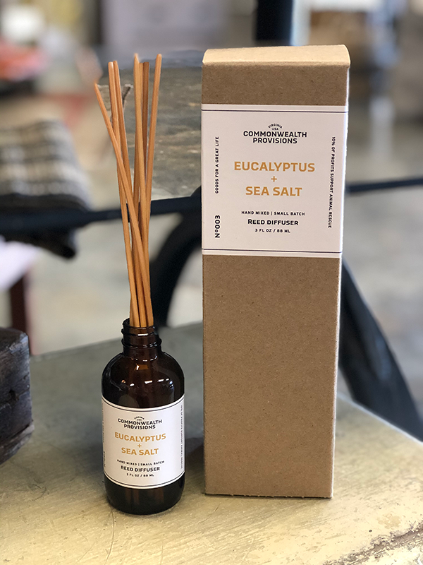 Intuition of Murray | Scents | Commonwealth Provisions Reed Diffuser | Eucalyptus + Sea Salt