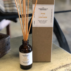 Intuition of Murray   Scents   Commonwealth Provisions Reed Diffuser   Pine + Leather