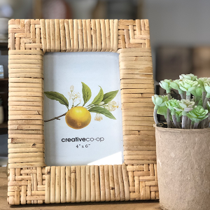 Intuition of Murray | Decor | 4x6 Rattan Photo Frame
