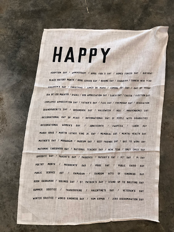 Intuition of Murray | Kitchen | Pure Linen Tea Towels | Happy