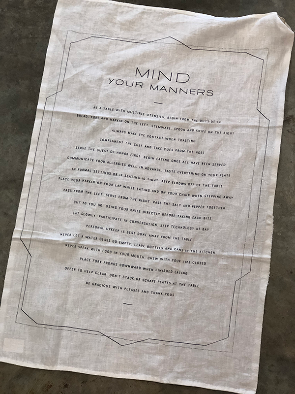 Intuition of Murray | Kitchen | Pure Linen Tea Towels | Mind Your Manners