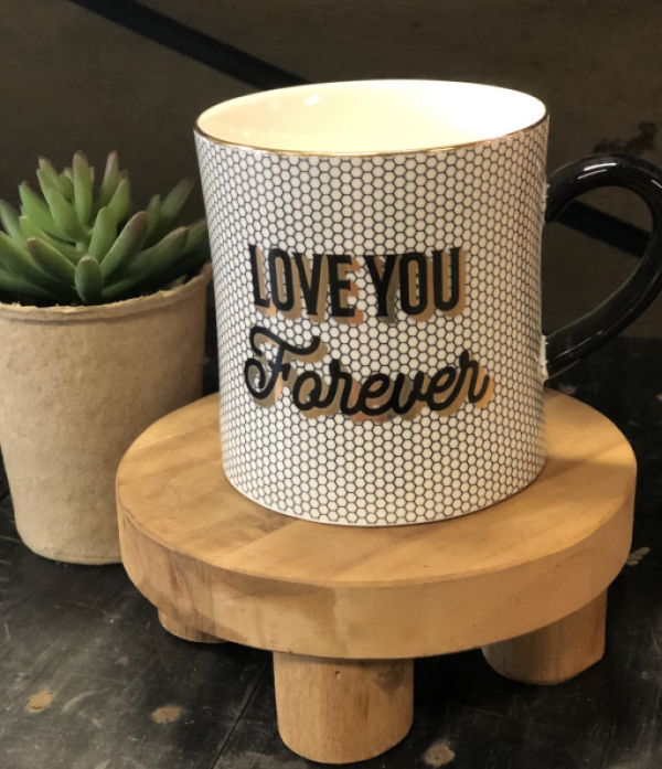 Intuition of Murray | Home | Kentucky | Black, White, and Gold Mug | Love You Forever Mug