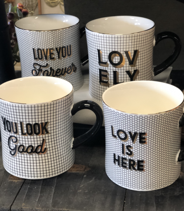 Intuition of Murray | Home | Kentucky | Black, White, and Gold Mugs