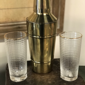 Intuition of Murray | Home | Kentucky | Brass Cocktail Shaker and Glasses