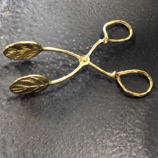 Intuition of Murray | Little Ones | Kentucky | Kitchen | Brass Tongs with Leaf Imprint