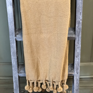 Intuition of Murray | Little Ones | Kentucky | Home | Mustard Throw with Pom Poms