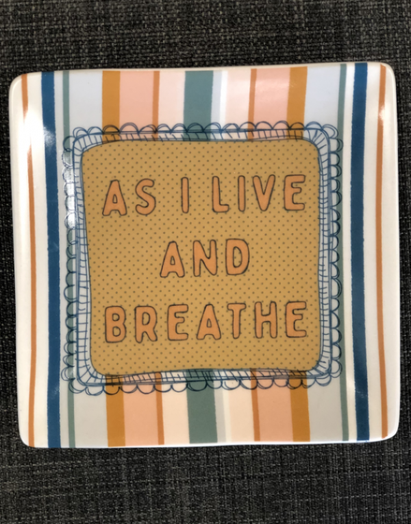 Intuition of Murray | Gifts | Kentucky | Stoneware Sassy Sayings | Trinket Tray | Breathe