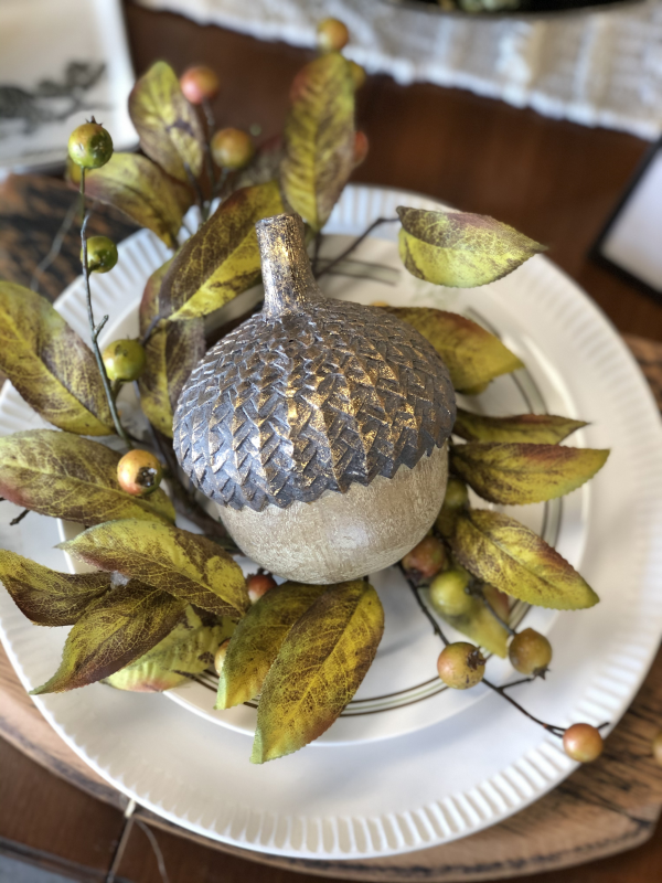 Intuition | Decor | Gifts | Little Ones | Acorn with Gold | Fall Decor