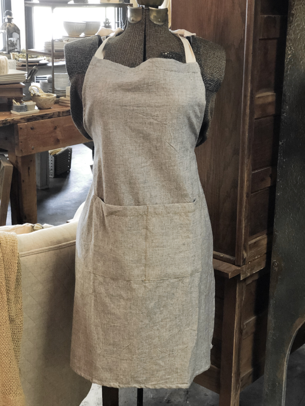 Intuition | Gray Linen Apron 2 | Kitchen | Gifts